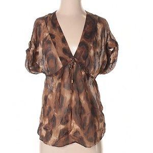100% Silk Massimo Dutti Short Sleeve Top